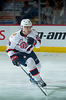 REGINA, SK - MAY 20: Brady Pouteau #28 of Regina Pats skates against the Acadie-Bathurst Titan at the Brandt Centre on May 20, 2018 in Regina, Canada. (Photo by Marissa Baecker/CHL Images)