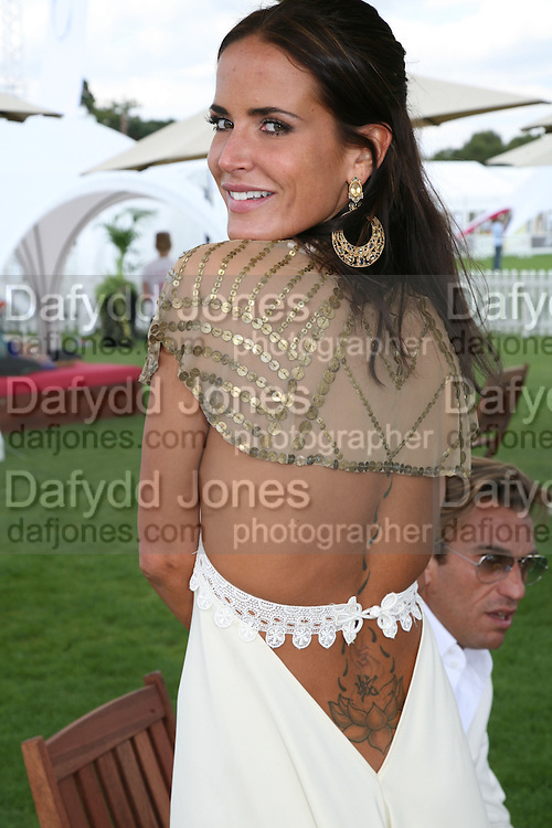 Sophie Anderton in the Chinawhite tent. Cartier International Polo. Guards Polo Club. Windsor Great Park. 29 July 2007.  -DO NOT ARCHIVE-© Copyright Photograph by Dafydd Jones. 248 Clapham Rd. London SW9 0PZ. Tel 0207 820 0771. www.dafjones.com.