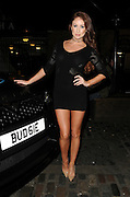 Laura Carter pictured outside Gilgamesh last night<br /> ©Exclusivepix Media