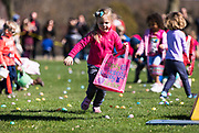 Children in the ages 3-5 area eagerly grab Easter eggs during the 21st Annual Easter Egg Hunt at Winnequah Park in Monona, WI on Saturday, April 20, 2019.