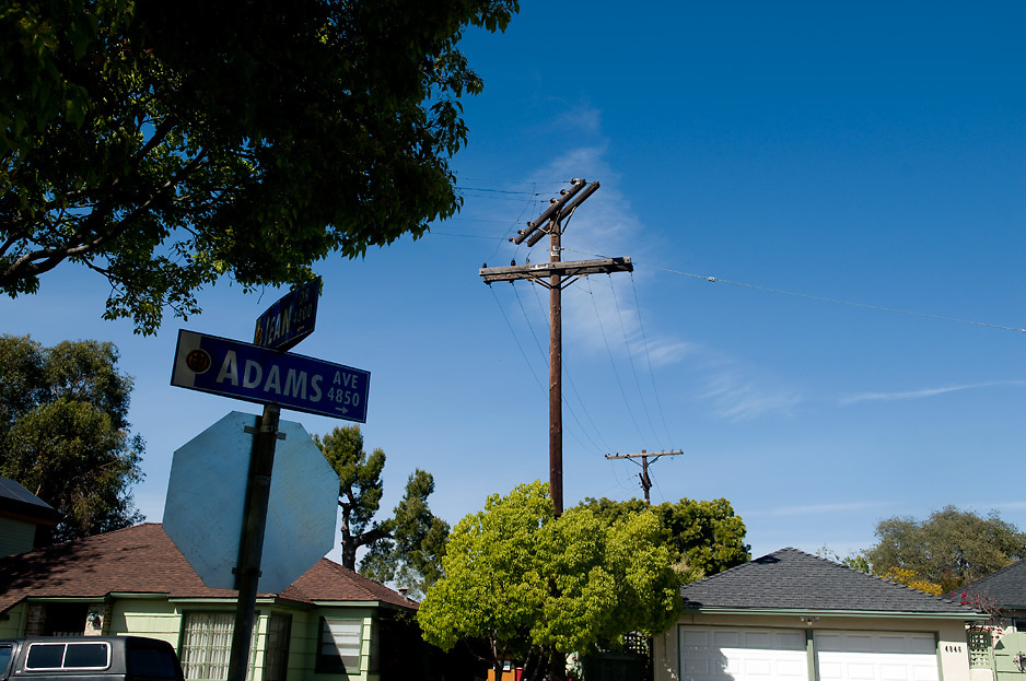 Some power lines in the neighborhood of Talmadge, are still waiting to be under-grounded.