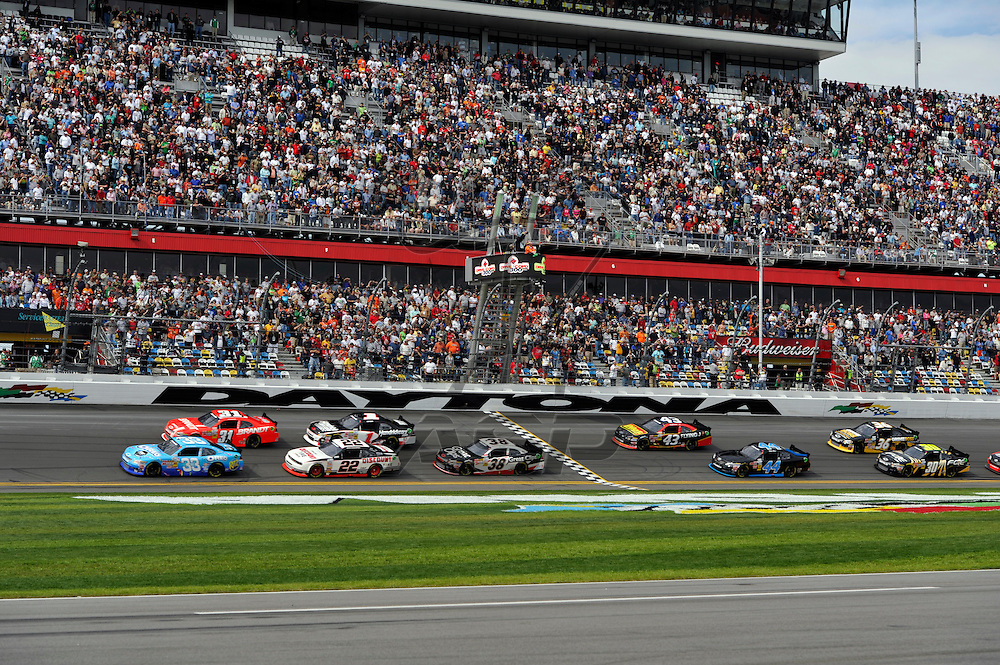 Daytona Beach, FL - Feb 25, 2012:  The NASCAR Nationwide Series take to the track the Drive 4 COPD 300 at the Daytona International Speedway in Daytona Beach, FL.