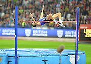 Great Britain's Robbie Brabarz clear at first round of high jump at the Sainsbury's Anniversary Games at the Queen Elizabeth II Olympic Park, London, United Kingdom on 24 July 2015. Photo by Mark Davies.