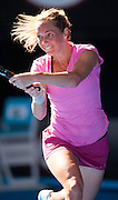 Klara Zakopalova (CZE) feels the heat in Day 1 of the Australian Open. Aussie Samantha Stosur beat  Zakopalova 6-3, 6-4 in first round play of the 2014 Australian Open at Melbourne's Rod Laver Arena. beat Klara Zakopalova (CZE) 6-3, 6-4 in first round play of the 2014 Australian Open at Melbourne's Rod Laver Arena.