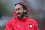 York City midfielder Jonathan Greening  during the Sky Bet League 2 match between York City and Plymouth Argyle at Bootham Crescent, York, England on 14 November 2015. Photo by Simon Davies.
