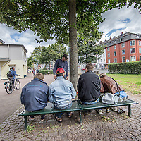 Duitsland, Aken, 10 augustus 2016.<br /> Reportage over verslaafden op Kaiserplatz in Aken.<br /> <br /> Reportage on drug addicts on Kaiserplatz in Aachen, Germany.<br /> <br /> Foto: Jean-Pierre Jans