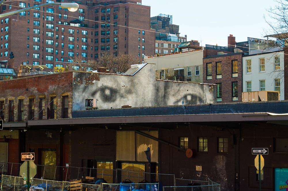 """Eyes Mural"" taken in New York, NY, January 25, 2017. (©2017 Wendelin Ray Photography)"