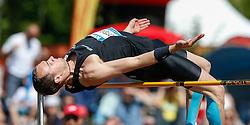 31.05.2014, Moeslestadion, Goetzis, AUT, 40. Hypo Meeting Goetzis 2014, Zehnkampf der Herren, Hochsprung, im Bild Dominik Distelberger (AUT) // Dominik Distelberger of Austria during the 40. Hypo Meeting Goetzis 2014, Men' s decathlon, High jump at the Moeslestadion, Goetzis, Austria on 2014/05/31. EXPA Pictures © 2014, PhotoCredit: EXPA/ Peter Rinderer