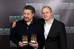 Publicis team with Awards: Ajax and Mitja Petrovic during Sporto  2010 Gala Dinner and Awards ceremony at Sports marketing and sponsorship conference, on November 29, 2010 in Hotel Slovenija, Portoroz/Portorose, Slovenia. (Photo By Vid Ponikvar / Sportida.com)