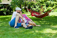 Family With Two Children, Hammock, Relaxation,