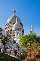 Sacre Coeur Basilica in Paris France in May 2008