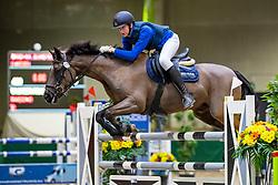 Vackier Francies, BEL, Mageno<br /> Nationaal Indoor Kampioenschap Pony's LRV <br /> Oud Heverlee 2019<br /> © Hippo Foto - Dirk Caremans<br /> 09/03/2019