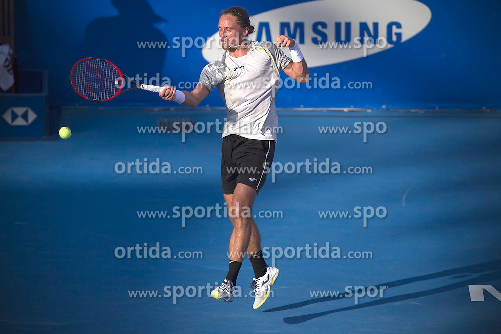 Ukraine's Alexandre Dolgopolov returns the ball during the men's single match against Australia's Sam Groth at the Abierto Mexicano Telcel tennis tournament in Acapulco, Guerrero, Mexico, Feb. 23, 2015. Dolgopolov won 2-1. EXPA Pictures &copy; 2015, PhotoCredit: EXPA/ Photoshot/ Alejandro Ayala<br /> <br /> *****ATTENTION - for AUT, SLO, CRO, SRB, BIH, MAZ only*****