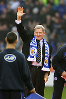 Photo: Pete Lorence.<br /> Leicester City v Coventry City. Coca Cola Championship. 17/02/2007.<br /> Milan Mandaric salutes the crowd.