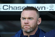 Derby County player/coach Wayne Rooney (32) during the EFL Sky Bet Championship match between Derby County and Millwall at the Pride Park, Derby, England on 14 December 2019.