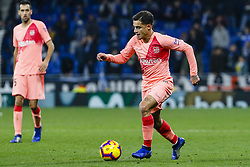 December 8, 2018 - Barcelona, Catalonia, Spain - FC Barcelona midfielder Philippe Coutinho (7) during the match RCD Espanyol against FC Barcelona, for the round 15 of the Liga Santander, played at RCD Espanyol Stadium  on 8th December 2018 in Barcelona, Spain. (Credit Image: © Mikel Trigueros/NurPhoto via ZUMA Press)