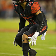 08 October 2016: The San Diego State Aztecs football team open's up the mountain west conference season at home against the University of Nevada Las Vegas Rebels. The Aztecs beat the Rebels 26-7 to improve to 4-1 and 1-0 in conference play. www.sdsuaztecphotos.com