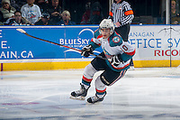 KELOWNA, CANADA - APRIL 19: Nick Merkley #10 of the Kelowna Rockets skates against the Portland Winterhawks on April 18, 2014 during Game 2 of the third round of WHL Playoffs at Prospera Place in Kelowna, British Columbia, Canada.   (Photo by Marissa Baecker/Shoot the Breeze)  *** Local Caption *** Nick Merkley;