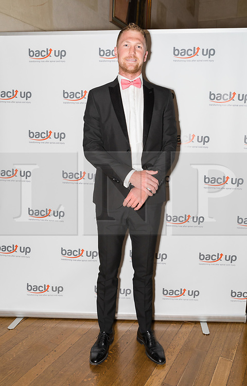 © Licensed to London News Pictures. 04/05/2017. LONDON, UK.  ALEX GREGORY, MBE Olympic rower attends The City Dinner fundraising event for the charity, 'Back Up Trust' at the Marchant Taylor's Hall. 'Back Up Trust' work to inspire independence in people affected by spinal cord injury and help them get the most from their lives, working with people of all ages, from young children to the elderly.  Photo credit: Vickie Flores/LNP