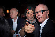 NICHOLAS COLERIDGE; RON ARAD; ROLF FEHLBAUM, Conde Nast Traveller Innovation and Design Awards. St. Pancras Renaissance Marriot Hotel. London. 10 May 2011. <br /> <br />  , -DO NOT ARCHIVE-© Copyright Photograph by Dafydd Jones. 248 Clapham Rd. London SW9 0PZ. Tel 0207 820 0771. www.dafjones.com.