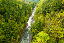 The Ottaquechee River as it flows through Quechee Gorge in Quechee, Vermont.