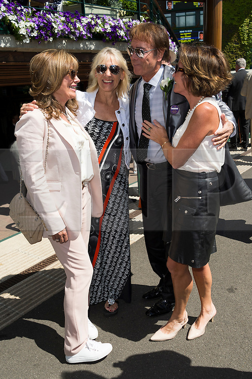 © Licensed to London News Pictures. 06/07/2016. SIR CLIFF RICHARD arrives for the seventh day of the WIMBLEDON Lawn Tennis Championships. London, UK. Photo credit: Ray Tang/LNP