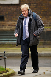 © Licensed to London News Pictures. 08/03/2016. London, UK. Mayor of London BORIS JOHNSON attending a cabinet meeting in Downing Street on Tuesday, 8 March 2016. Photo credit: Tolga Akmen/LNP