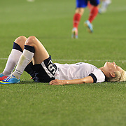 Megan Rapinoe, USA, in action during the U.S. Women Vs Korea Republic friendly soccer match at Red Bull Arena, Harrison, New Jersey. USA. 20th June 2013. Photo Tim Clayton