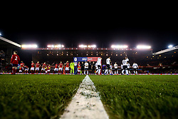 Nottingham Forest and Derby County shake hands ahead of their Sky Bet Championship fixture - Mandatory by-line: Robbie Stephenson/JMP - 25/02/2019 - FOOTBALL - The City Ground - Nottingham, England - Nottingham Forest v Derby County - Sky Bet Championship