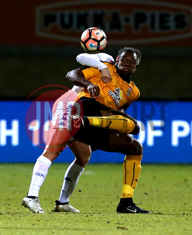 Uche Ikpeazu of Cambridge United controls the ball - Mandatory by-line: Robbie Stephenson/JMP - 09/01/2017 - FOOTBALL - Cambs Glass Stadium - Cambridge, England - Cambridge United v Leeds United - FA Cup third round