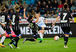05.10.2016, Merkur Arena, Graz, AUT, UEFA CL, Damen, SK Sturm Graz Damen vs FC Zuerich Frauen, Sechzehntelfinale, Hinspiel, im Bild v.l.: Stefanie Enzinger (Graz), Nicole Studer (Zuerich), Nike Winter (Graz) // during the UEFA Womens Championsleague, round of 32, 1st Leg match between SK Sturm Graz Women and FC Zuerich Women at the Merkur Arena, Graz, Austria on 2016/10/05, EXPA Pictures © 2016, PhotoCredit: EXPA/ Dominik Angerer