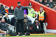 Liverpool Manager Jurgen Klopp during the Premier League match between Liverpool and Brighton and Hove Albion at Anfield, Liverpool, England on 30 November 2019.