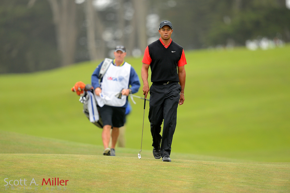 Tiger Woods during the final round of the 112th U.S. Open at The Olympic Club on June 17, 2012 in San Fransisco. ..©2012 Scott A. Miller