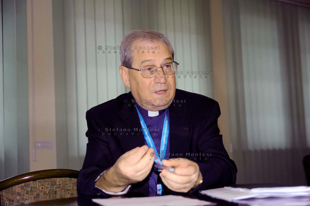 Mons. Enrico Feroci, Direttore della Caritas Diocesana di Roma.The Director of Caritas of Rome Monsignor Enrico Feroci