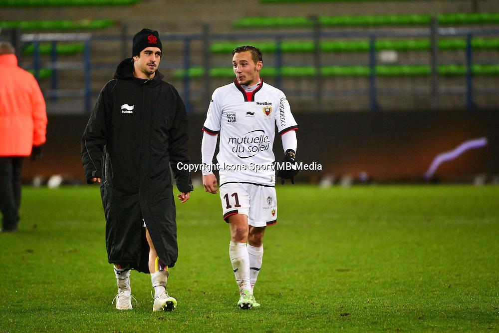 Joie Gregoire PUEL / Eric BAUTHEAC - 06.12.2014 - Caen / Nice - 17eme journee de Ligue 1 -<br />Photo : Dave Winter / Icon Sport