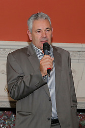 "Leo Lambreghts, president Jumping Mechelen<br /> Pressconference ""Vlaanderens Kerstjumping"" - Mechelen 2012<br /> © Dirk Caremans"