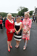 Karen Whyte The Whyte House Westport, Eileen Moran Westport Dorothy Philbin Louisberg  at the 90th Connemara Pony show in Clifden Co. Galway. Photo:Andrew Downes