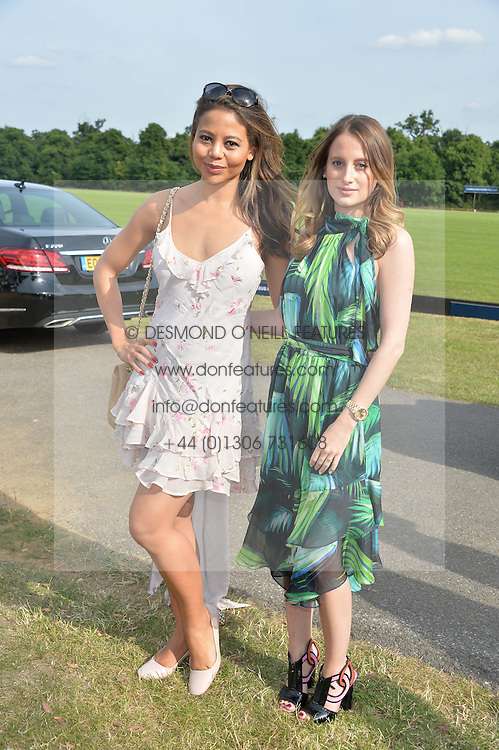 Left to right, VISCOUNTESS WEYMOUTH and ROSIE FORTESCUE at the Laureus Polo held at Ham Polo Club, Ham, Richmond, Surrey on 18th June 2015.