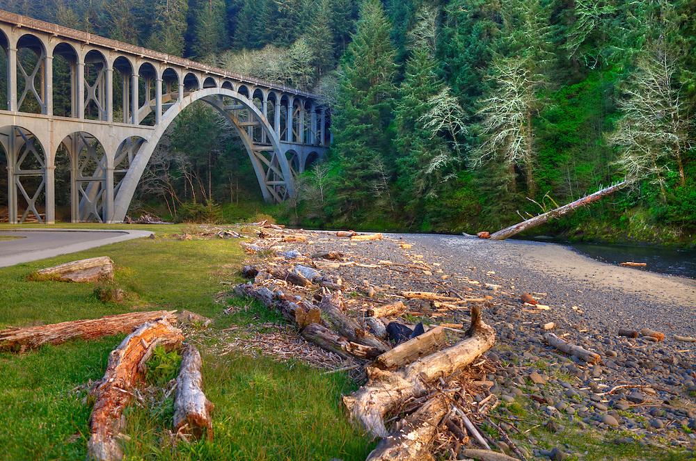 Haceta Head Bridge - Oregon Coast - HDR