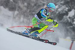 Forerunner during 1st run of Men's Slalom race of FIS Alpine Ski World Cup 57th Vitranc Cup 2018, on March 4, 2018 in Kranjska Gora, Slovenia. Photo by Ziga Zupan / Sportida