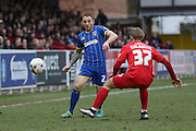Barry Fuller (Captain) of AFC Wimbledon during Sky Bet League 2 match between AFC Wimbledon and York City at the Cherry Red Records Stadium, Kingston, England on 19 March 2016. Photo by Stuart Butcher.