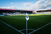 A general view from the corner flag of the Crown Oil Arena before the EFL Sky Bet League 1 match between Rochdale and Lincoln City at the Crown Oil Arena, Rochdale, England on 17 September 2019.
