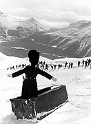 Dangerous Sports Club ski race. St. Moritz. 1983.<br />© Copyright Photograph by Dafydd Jones<br />66 Stockwell Park Rd. London SW9 0DA<br />Tel 0171 733 0108<br />Mike Fitroy. Dangerous Sports Club ski race. St. Moritz. 1983.<br />© Copyright Photograph by Dafydd Jones<br />66 Stockwell Park Rd. London SW9 0DA<br />Tel 0171 733 0108