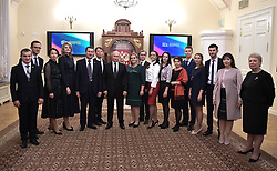 October 3, 2018 - Saint Petersburg, Russia - October 3, 2018. - Russia, Saint Petersburg. - Russian President Vladimir Putin during his meeting with finalists of the 2018 Teacher Of The Year contest at Boris Yeltsin Presidential Library. (Credit Image: © Russian Look via ZUMA Wire)