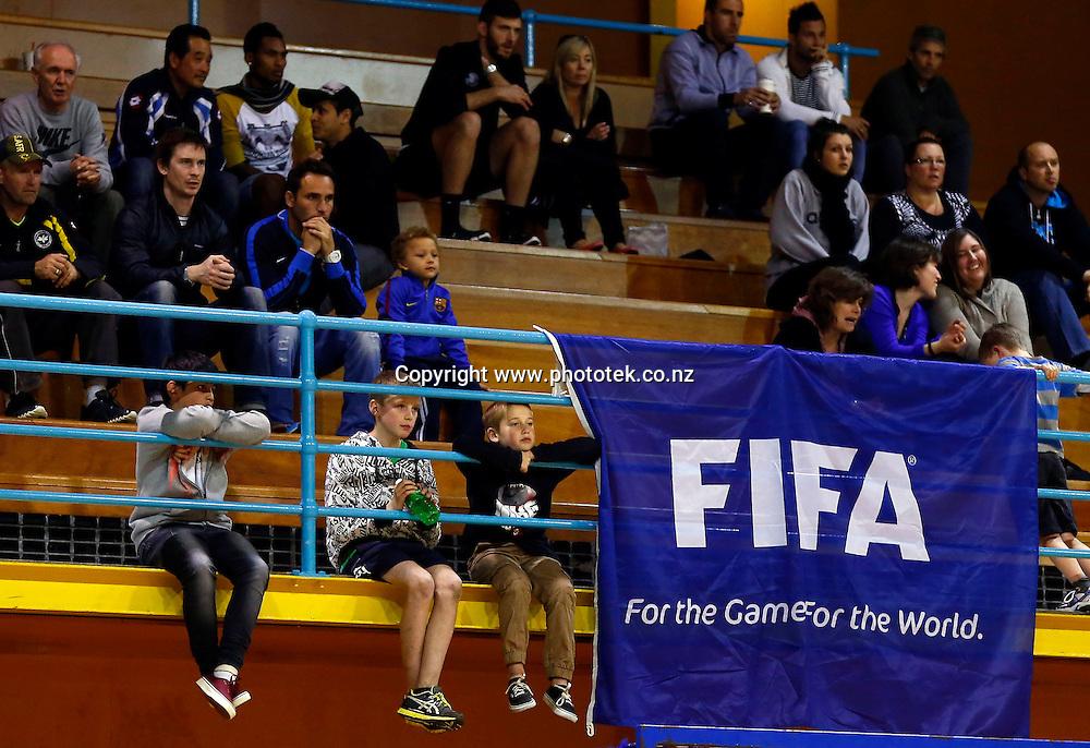 Crowd. ASB Trans Tasman Cup, Futsal Whites v Futsal Roos, ASB Stadium, Kohimarama, Friday 21st September 2012. Photo: Shane Wenzlick