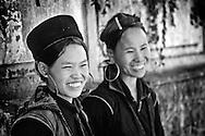 Young Hmong tribe women in Sapa.