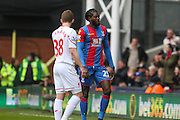 Emmanuel Adebayor (25) of Crystal Palace  during the Barclays Premier League match between Crystal Palace and Liverpool at Selhurst Park, London, England on 6 March 2016. Photo by Phil Duncan.