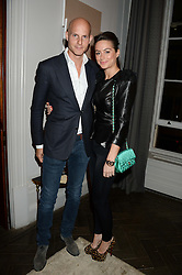 GUNNAR & SASKIA WINBERGH at the SportMax + Cutler & Gross launch party hosted by Leigh Lezark at The Arts Club, 40 Dover Street, London on 23rd October 2013.