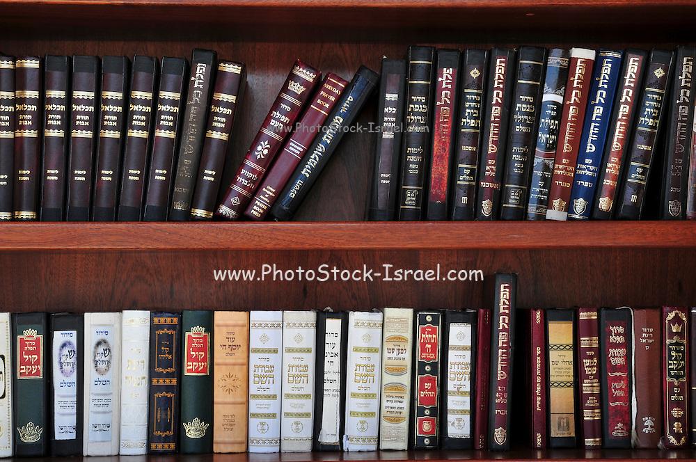 Israel, Jerusalem, Jewish Prayer books (Sidur) at the wailing wall
