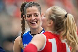 10-12-2016 NED: VC Sneek - Sliedrecht Sport, Sneek<br /> Sneek wint met 3-0 van Sliedrecht Sport / Nienke de Waard #7 of Sliedrecht Sport